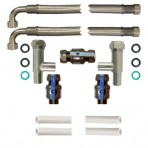 22mm Pro-Install Kit with 1mtr Hoses and half inch drain hose