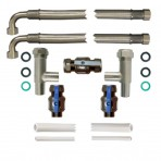 22mm Pro-Install Kit with 750mm hoses and three eighth inch drain hose
