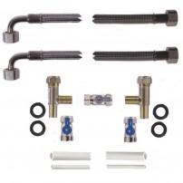 15mm Pro-Install Kit with 750mm hoses and three eighth inch drain hose