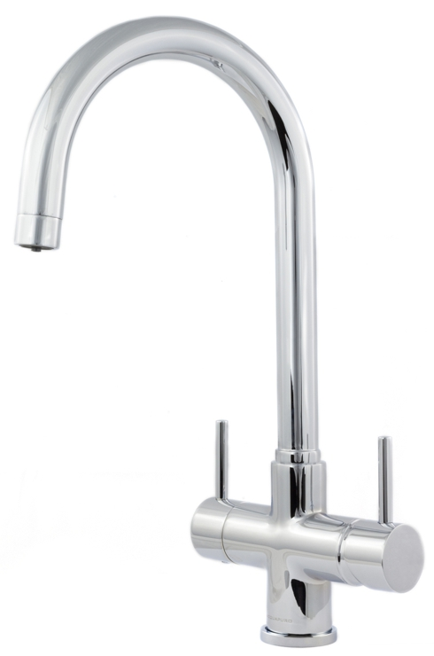 Aquapuro Verona 2-Lever 3-Way Tap Chrome