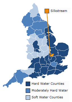 Hard Water Map of England